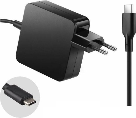 65W USB-C Adapter/Oplader voor Nintendo Switch - Asus - Acer - HP - Lenovo - Dell - Macbook -Toshiba - Medion - Surface