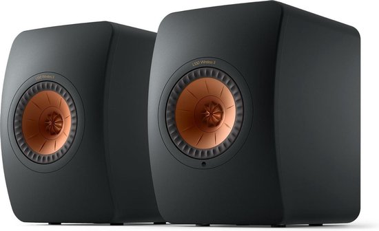 KEF LS50 Wireless 2 Boekenplank speaker Carbon Black (per paar)