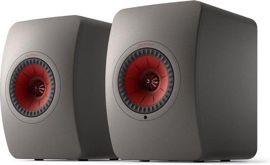 KEF LS50 Wireless 2 Boekenplank speaker Titanium Grey (per paar)