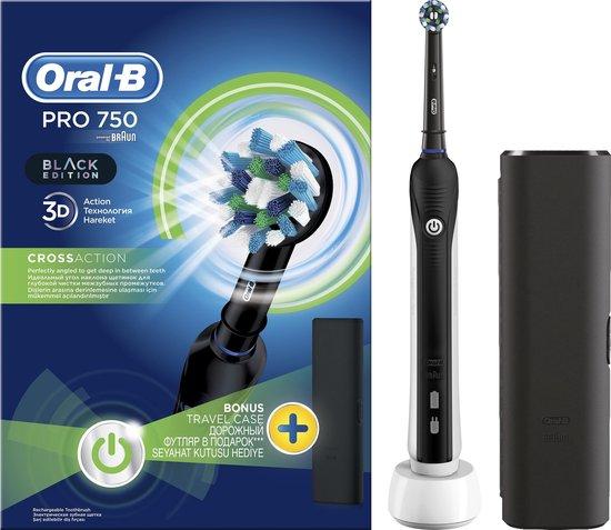 Oral-B PRO 750 - Elektrische Tandenborstel - Zwart