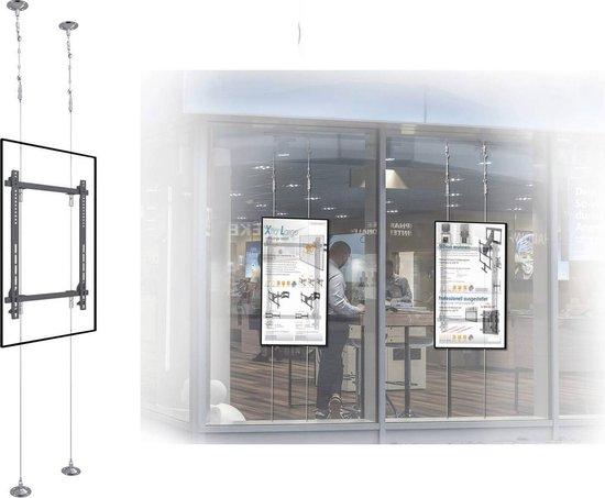 Professioneel TV Display Plafond Ophangysteem - Verticaal Flatscreen Ophang Beugel - Televisie Voor Raam Ophangen Ter Retail Promotie - Kabel Plafondsteun - Plafondsteun Televisiebeugel Voor Schermen Van 42-75 Inch - In Hoogte Verstelbaar