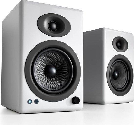 Audioengine A5+ WIRELESS luidspreker 2-weg 50 W Wit Draadloos Bluetooth/RCA/3.5mm