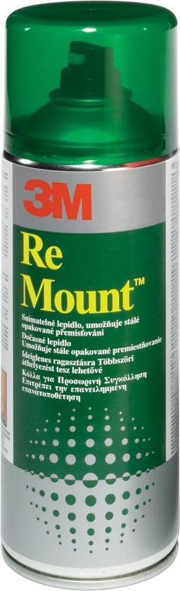 3M™ Scotch-Weld Re Mount, Herpositioneerbaar, Transparant, 400 ml