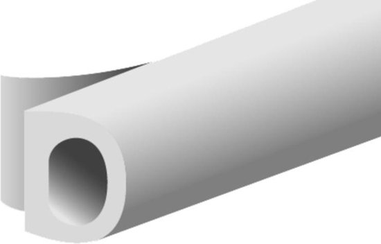 Ellen Zelfklevende Tochtstrip - D-Profiel - 7.5M x 8MM - Wit