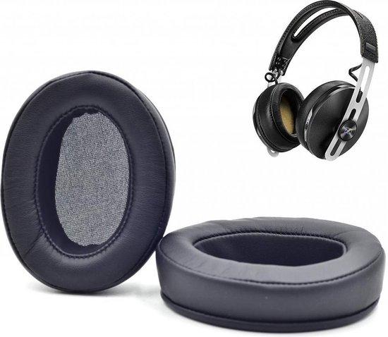 Luxe Lederen Oorkussen Set Voor Sennheiser Momentum 1.0/2.0 Wireless Over-ear - Vervangende Koptelefoon Earpads - Oor Kussens - Ear Pads - Oorkussens Met Noise Cancelling Memory Foam Binnenlaag - Zwart
