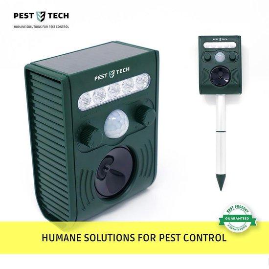 Pest Tech PT-221 - Ultrasone Kattenverjager op zonneenergie en oplaadbare batterij - verjaagt ook marters en andere dieren