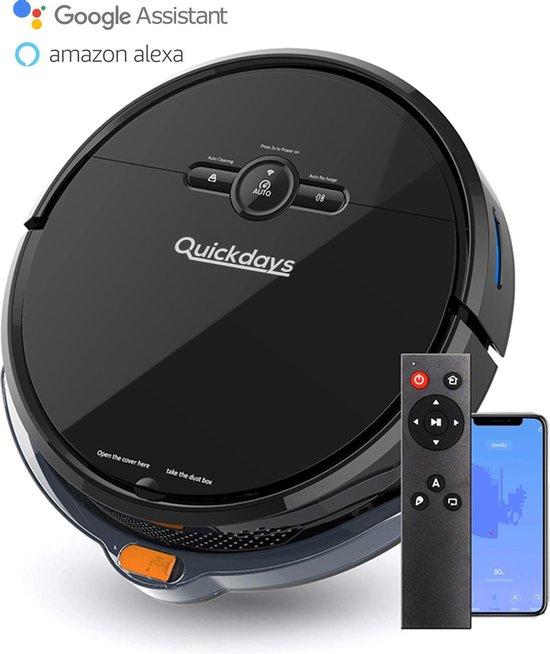 QuickDays® Robotstofzuiger | Met laadstation & Dweilfunctie | Inclusief Nederlandse Instructievideo