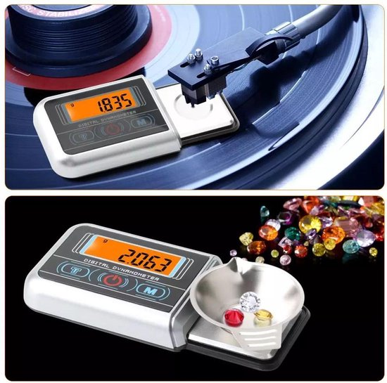 Elektronische mini precisie weegschaal / naalddrukmeter 0,05 gram nauwkeurig tot 100 Gram / Naalddruk weegschaal / Platenspeler naalddruk meter / Mini Pocket Weegschaal / elektronische naalddrukweger / LCD Display / Batterij inbegrepen.