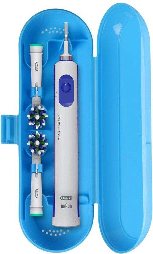 Reisetui Voor Oral-B Pro/Vitality/Smartseries Stages Kids - Beschermhoes Travel Case - Geschikt Voor Elektrische Tandenborstel - Blauw