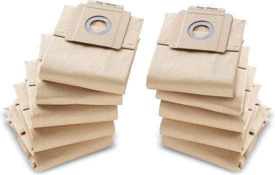 10 Karcher Papieren Stofzuigerzakken T7/1 (eco!efficiency), T9/1 (BP), T10/1, T10/1 (Adv / Eco!efficiency) - 69043330
