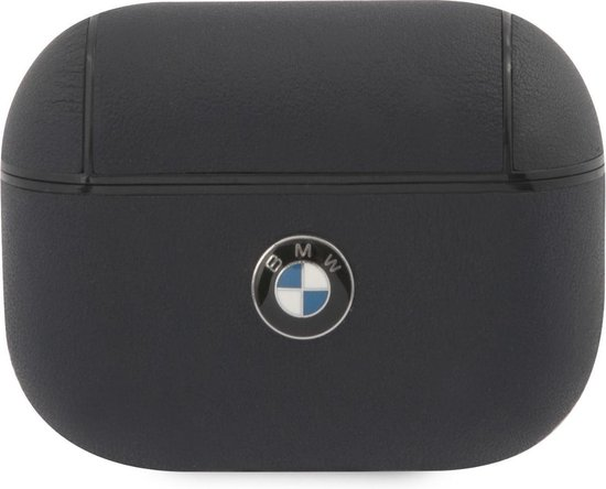 BMW Signature Leather Case voor Apple Airpods Pro - Donkerblauw