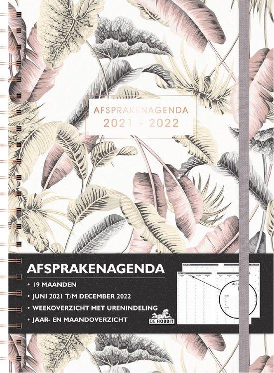 Hobbit schoolagenda 2021-2022 - AFSPRAKENAGENDA D2 - toetsweekplanners - ringband - 19 maanden - 7 dagen over 2 pagina's - harde kaft - 224 pagina's - roze wit bladeren - A4 formaat