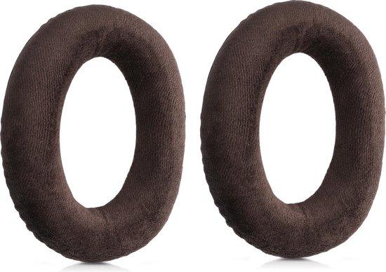 kwmobile 2x fluwelen oorkussens voor Sennheiser HD 559 / 569 / 599 koptelefoons - Kussens voor over-ear-koptelefoon in bruin