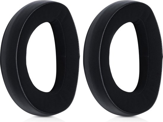 kwmobile 2x oorkussens voor Sennheiser HD820 koptelefoons - imitatieleer - voor over-ear-koptelefoon - zwart