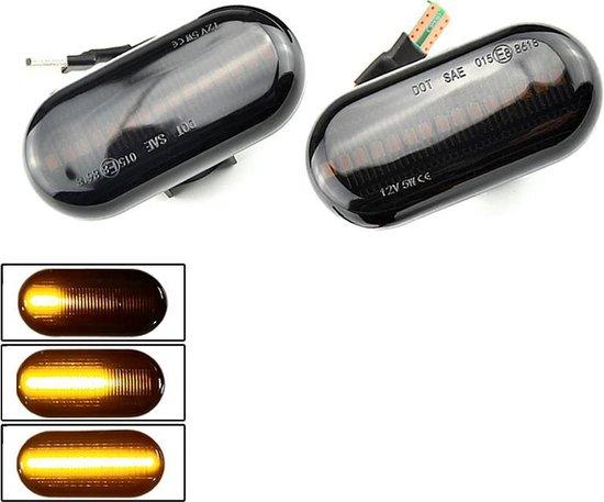 LED Dynamic Zijknipperlichten voor Renault Clio Espace Kangoo Laguna Megane Scenic Twingo Master / Smoke - Zwart
