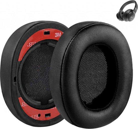 Luxe Lederen Oorkussen Set Voor JBL E55BT - Vervangende Koptelefoon Earpads - Oor Kussens - Ear Pads - Oorkussens Met Noise Cancelling Memory Foam Binnenlaag - Zwart