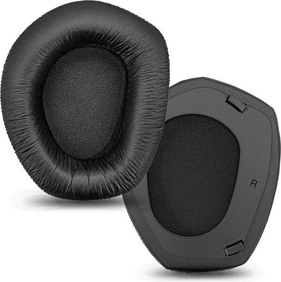 Luxe Lederen Oorkussen Set Voor Sennheiser HDR165/HDR175/HDR185/HDR195 & RS165/RS175/RS185/RS195 - Vervangende Koptelefoon Earpads - Oor Kussens - Ear Pads - Oorkussens Met Noise Cancelling Memory Foam Binnenlaag - Zwart