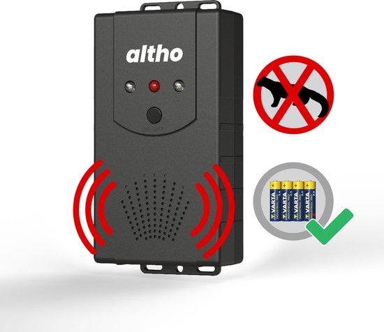 Marterverjager - Muizenverjager - Ultrasone binnen & buiten - Steenmarter verjager auto - Inclusief batterijen, 12V en stopcontact