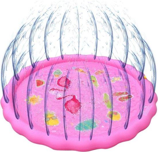 Sprinkler Play Mat - Waterspeelmat - Waterspeelgoed - Ø 150 cm - Roze