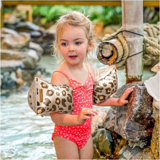 Swim Essentials Beige Panterprint Zwembandjes - 2-6 jaar - Zwemmen - Veiligheid - 15-30 kg - Zwemvleugels