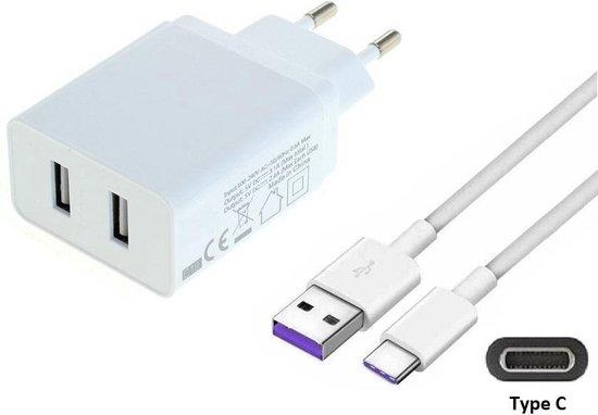 2,4A oplader adapter en 1,2 m USB C oplaadkabel. Stekker met oplaadsnoer. Past ook op JBL. O.a. Link Portable, LIVE 300TWS, Pulse 4, Quantum 400, Quantum ONE, Reflect Mini NC, TUNE 115TWS