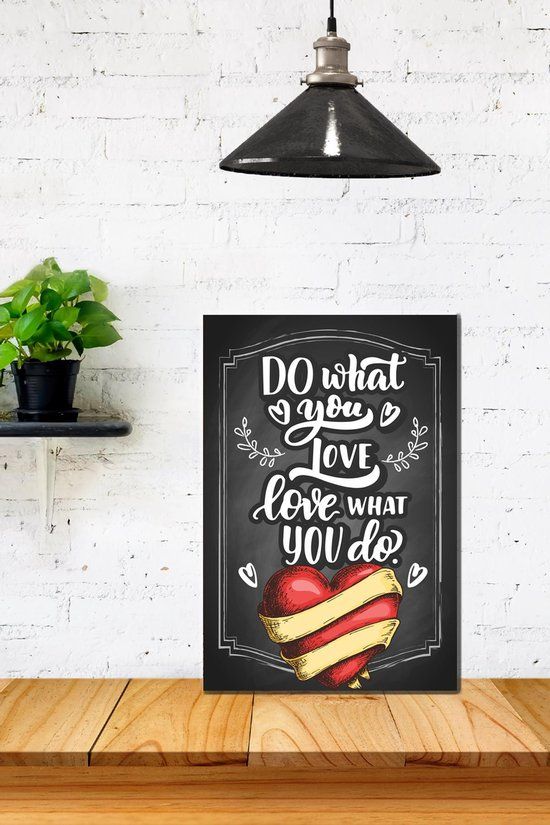 3d Retro Hout Poster Do what you love