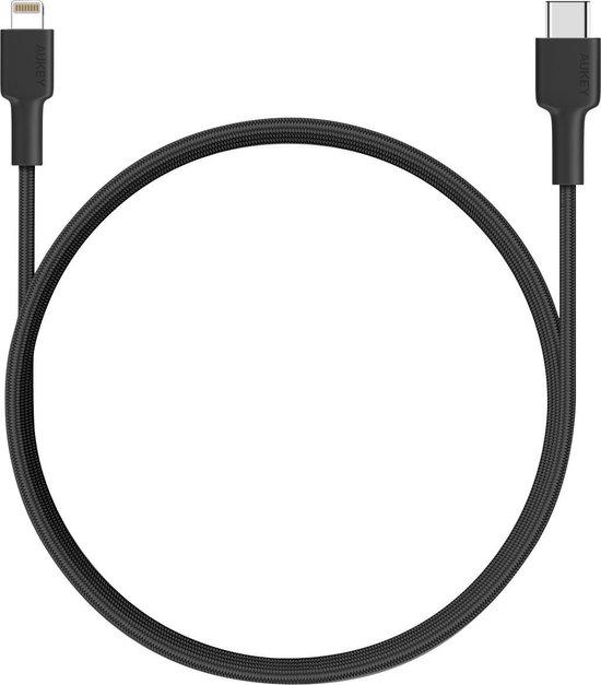 Aukey USB-C to USB Lightning Cable 2M (Black) - CB-CL2