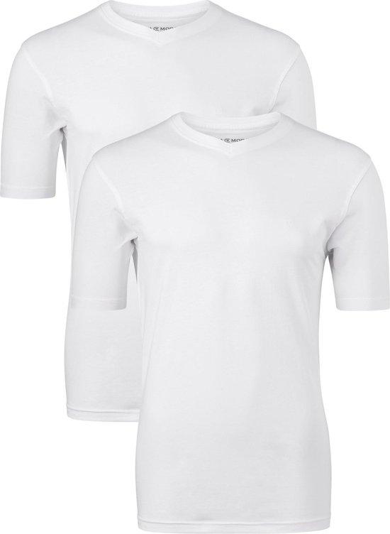 Casa Moda T-shirts (2-Pack) - V-neck - wit - Maat XXXL