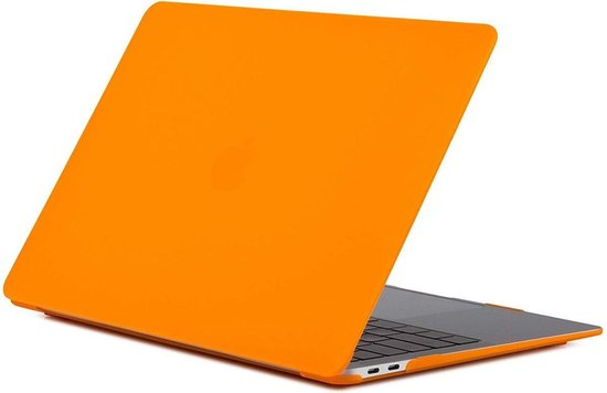 Hardcover Case Cover Voor Apple Macbook Pro 13 13.3 Inch 2016/2017/2018/2019 Hard Shell Hoes - Notebook Sleeve Skin Protector - Mat Oranje
