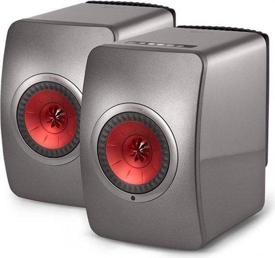 KEF LS50 Grijs, Rood luidspreker (per paar)