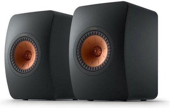 KEF LS50 Meta Boekenplank speaker Carbon black (per paar)