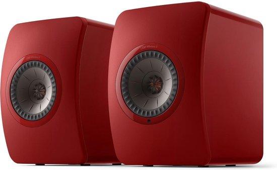 KEF LS50 Wireless 2 Boekenplank speaker Grimson Red (per paar)