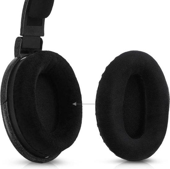 kwmobile 2x fluwelen oorkussens voor Sennheiser HD600 / HD650 / HD545 / HD580 koptelefoons - Kussens voor over-ear-koptelefoon in zwart