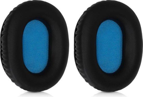kwmobile 2x oorkussens voor Sennheiser HD8 / HD8 DJ / HD6 MIX koptelefoons - imitatieleer - voor over-ear-koptelefoon - zwart