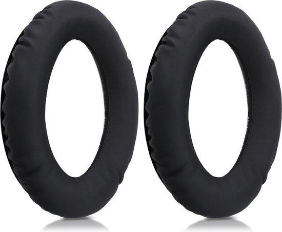 kwmobile 2x oorkussens voor Sennheiser PXC350 / 450 / HD380 koptelefoons - imitatieleer - voor over-ear-koptelefoon - zwart