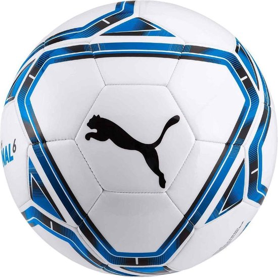 Puma Voetbal Final 6 Ms Pu/synthetisch Wit/blauw/zwart Maat 5