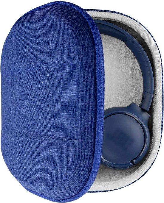 UltraShell-hoesje compatibel met JBL Tune 510BT, Tune 660 BTNC, TUNE 700BT, Tune 500BT, E45BT hoofdtelefoon, vervangende beschermende harde schaal reisdraagtas met kabelopslag (blauw)
