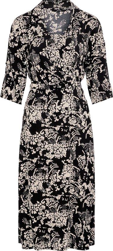 Vero Moda VMPROSECCA 3/4 CALF DRESS Black ELLA PROSECCA Dames Jurk - Maat XL